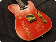 Paoletti Guitars Paoletti Nancy Loft WESTERN MARYLAND 2020 Red Rustic Engraved