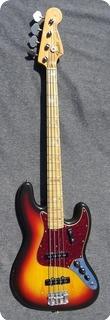 Fender Jazz Bass Sumburst Maple Neck 1973 Sunburst