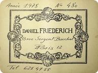 Daniel Friederich Concert 1978