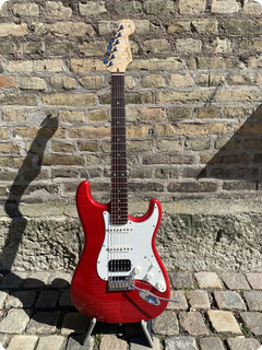 Fender Stratocaster Custom Shop Deluxe Hss 2011 Transparent Red