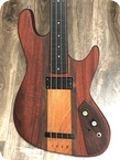 Carl Thompson 4 String Fretless Bass 1975 Red Mahogany Finish