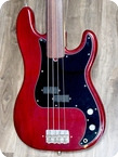 Fender Precision Fretless Bass 1978 Deep Wine Red Finish