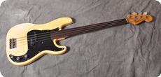 Fender Precision Bass Fretless 1976 Olympic White