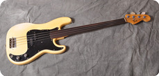 Fender Precision Bass Fretless 1976 Olympic White