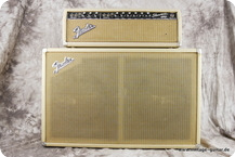 Fender-Showman Top And Cabinet-1964-White Tolex
