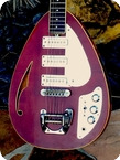 Vox MK.VI TEARDROP Hollow Body 1968 Dark Cherry Finish