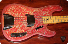 Fender-Telecaster Bass -1968-Pink Paisley