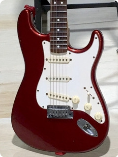 """Fender Stratocaster """"yngwie Malmsteen"""" Signature 1989 Candy Apple Red Metallic Finish"""