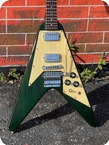 Gibson-FLYING V SPECIAL ORDER-1984-See-thru Green Finish