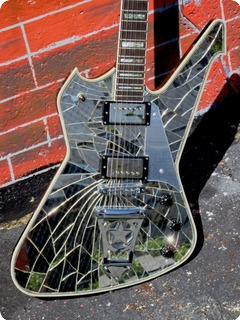 Washburn Ps 2000 Cracked Mirror # 13 Of 100 1999 Cracked Mirror Glass Finish