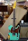 Fender Fender Limited Edition 1960 HS Tele Custom Heavy Relic 2020 Aged Surf Green Over 3 Color Sunburst 2020 Surf Green Over 3 Color Sunburst