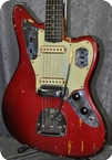 Fender Jaguar Candy Apple Red.CITES Certificate Incl. 1963 Candy Apple Red