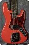 Fender Jazz Bass Fiesta Red Refin 1966 Fiesta Red