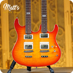 Musicman Usa Double Neck 2010 Cherry Burst