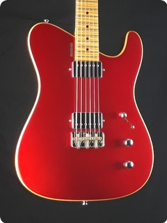 Tausch Guitars 665 Deluxe Candy Apple Red On Top / Dark Cherry Burst On Rims And Back