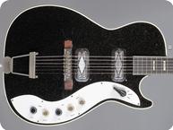 Silvertone Jupiter 1423L Stratotone 1959 Black Sparkle