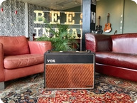 Vox Amps And Effects-1962 - 1963 JMI VOX AC30 Bass 2x12 Red Copper Panel Celestion T530 Blue Alnico-1962-Black Smooth Tolex