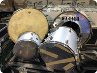 Tama 4 Piece Drum Kit Owned By Ricke Wakeman Of YES Purchased From Bill Bruford 1970 Silver