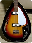 Vox Wyman Teardrop Bass 1968 Sunburst Finish