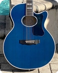 Guild Guitars F65CE TPB 1997 Bright Blue Finish