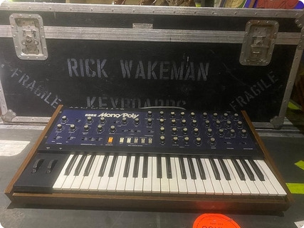 Korg Mono/poly Mp4 Synth Owned And Used By Rick Wakeman Of Yes 1980 Black