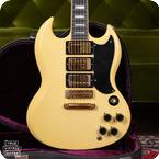 Gibson-SG Custom-1974-White