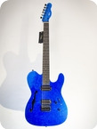 Pd Guitars Tele Semi Hollow 2017 Blue