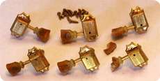 Gibson Kluson ES 345 ES 355 Single Line Deluxe Tuners Gold 1959 Gold