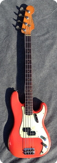 Fender Precision Bass 1963 Fiesta Red Custom Color
