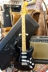 Fender Stratocaster 1975 Black Black Pickguard 1975 Black Black Pickguard