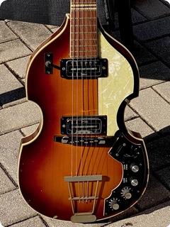 Hofner Guitars 459tz Beatle Violin Guitar 1968 Sunburst Finish