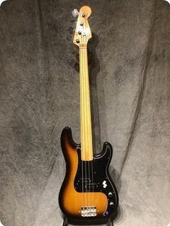 Fender Precison Fretless Sunburst