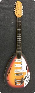 Vox Vox Mark Xii Acoustic Teardrop  Mod.v258 1966 Sunburst