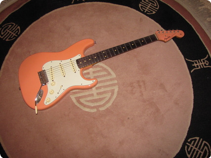 Fender Style Stratocaster /coral Caster 2016 Coral Matching Head