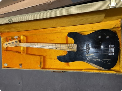 Fender Prototype Precision Bass Ex Dusty Hill Zz Top 2011 Black