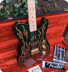 Fender James Burton Signatur Telecaster 1994 Black With Paisley Flames