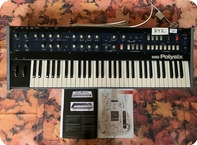Korg Polysix Synth Ex Gary Moore Wild Frontiers Tour 1980 Black