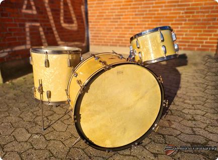 Slingerland Drums Radio King 1950 White Marine Pearl