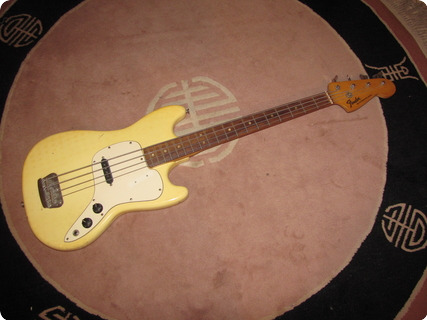 Fender Musicmaster Bass (1st Year) 1971 Olympic White