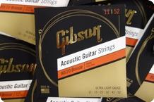 Gibson Gibson SAG BRW11 1 Acoustic Guitar Strings 11 52 Bronze 9 Sets