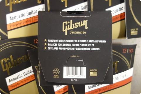 Gibson Gibson Sag Pb12 1 Acoustic Guitar Strings 12 53 Phosphor Bronze ( 10 Sets)