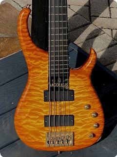 Modulus Quantum 5 Q5 Bass  1999 Honey Amber'burst