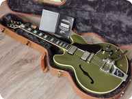 Gibson ES 355 Olive Drab Green VOS Limited Run Bigsby With COA Case 2015