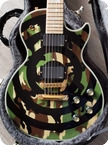 Gibson Les Paul Custom Zakk Wylde Bullseye Camo Pilot Run Handsigned Serial 12 Of 25 2004 Bullseye Camo
