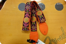 Souldier Souldier Daisy Orange Guitar Strap