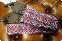 Souldier Souldier Stained Glass Purple Guitar Strap