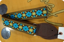 Souldier Souldier Tulip Turquoise Gold Guitarstrap