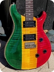 Paul Reed Smith Guitars Custom 24 Rasta 10 Top 1992 Rasta Finish