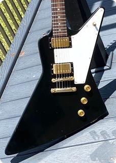 Gibson Explorer Reissue  1976 Black Finish