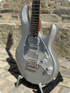 Ernie Ball Music Man Silhouette Bfr 2020 Silver Flake Sparkle